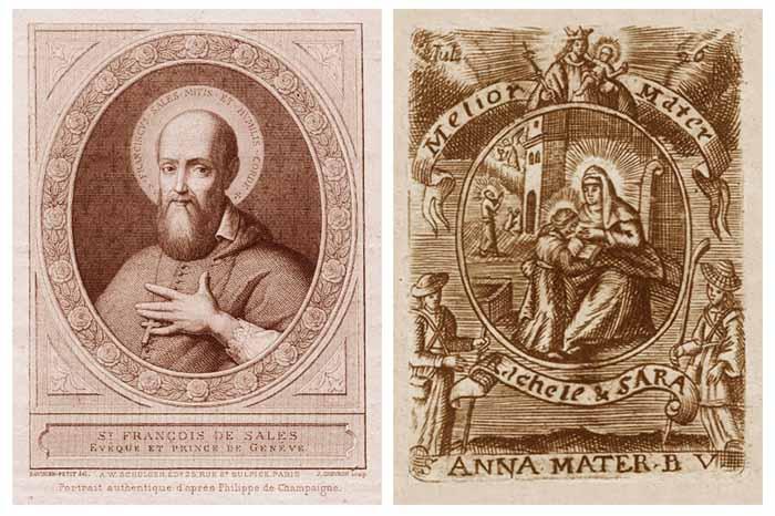 Medalla S. Francisco de Sales / Santa Anna y Virgen Niña - MR(340)(R.M. SXVII-O240) Kj5a