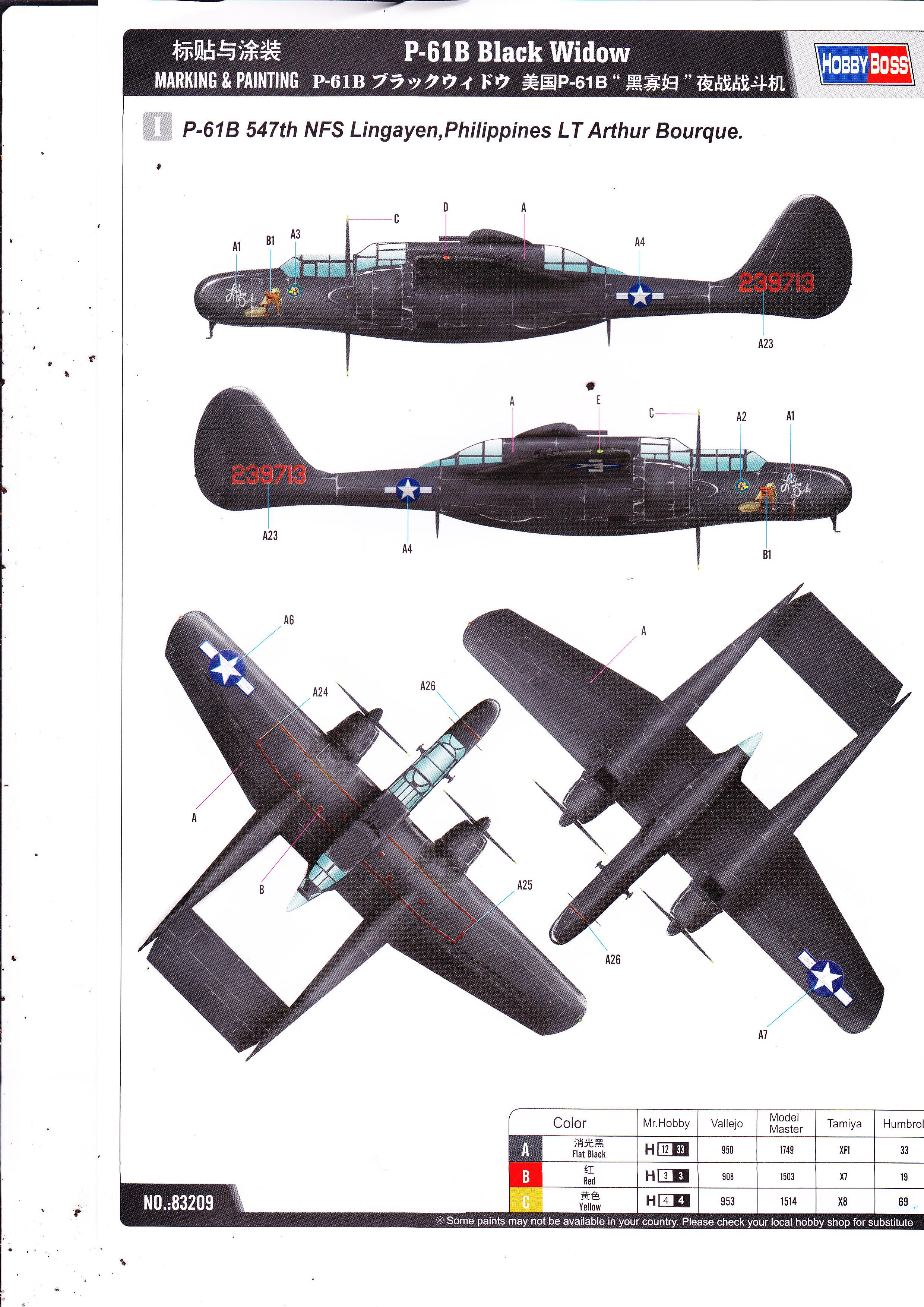P-61 B Black Widow Hobby Boss Img0002ka