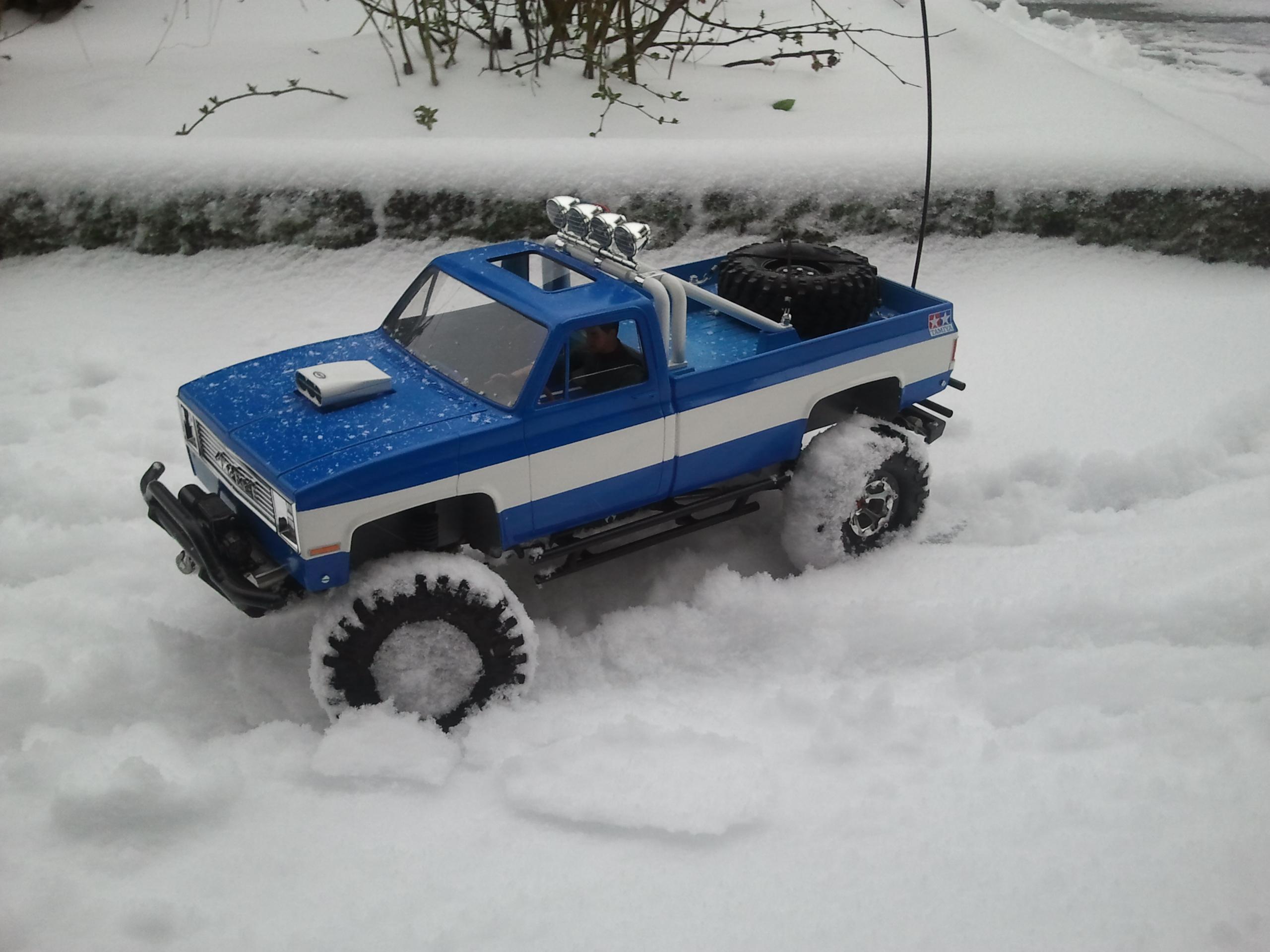 Mon Chevrolet K5, benne rallongée  (châssis SCX10)  20130312174326