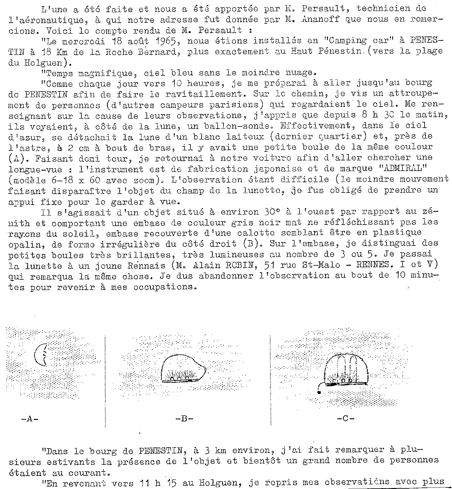 1967: lex /12 à  à la tombé de la nuit- Disques lumineux - Forêt de Pontcalleck (56)  - Page 2 19651