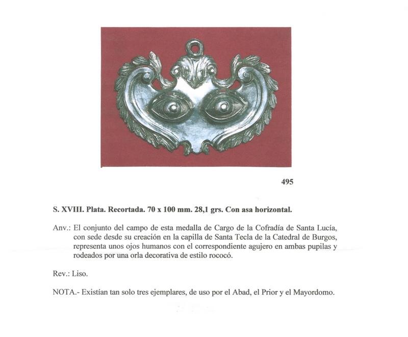 Medalla Cofradia de  Santa Lucia, S. XVIII ( FSV-495) (R.M. PFV-Lucía 1) Fsv495