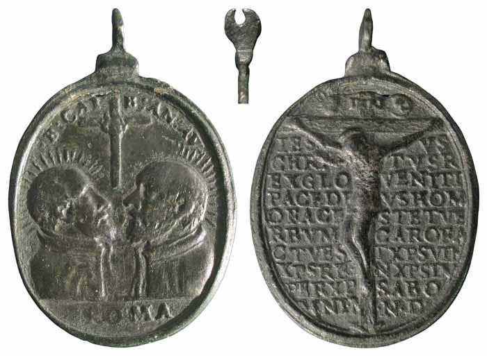 Beatos Cayetano y Andres Avelino / Jesucristo crucificado y oracion - MR(286) (R.M. SXVII-O207) Mr286a