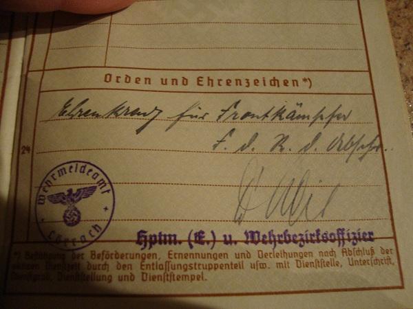 Traduction militarpass et wehrpass d'un suisse ayant combattu pour les allemands Dsc02071ia