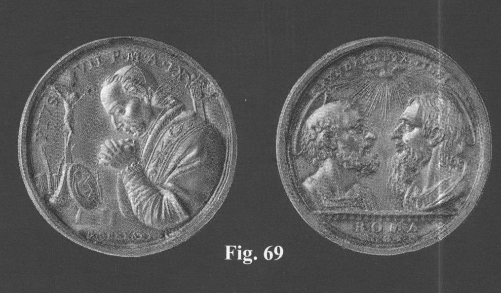 Pio VII / San Pedro y San Pablo   (R.M. SXIX O31) Imagen261y
