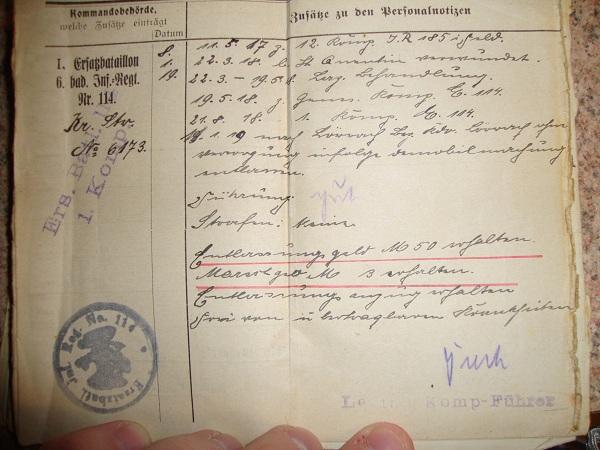 Traduction militarpass et wehrpass d'un suisse ayant combattu pour les allemands Dsc02061nn