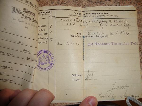 Traduction militarpass et wehrpass d'un suisse ayant combattu pour les allemands Dsc02060j