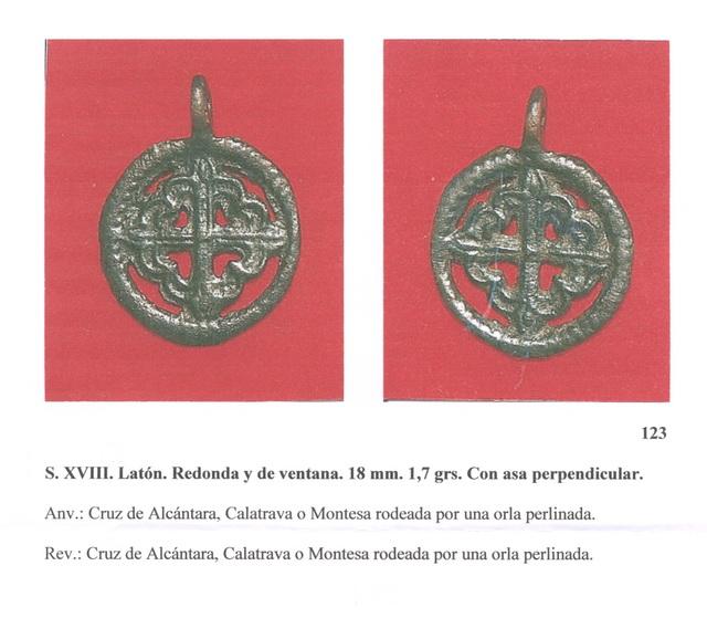 Medalla - Cruz de Alcántara , S. XVIII ( FSV-123) Fsvnm123