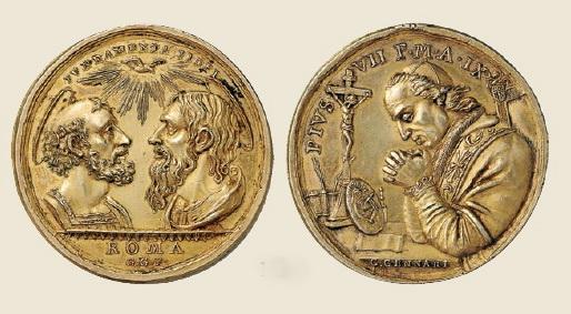 Pio VII / San Pedro y San Pablo   (R.M. SXIX O31) Genari