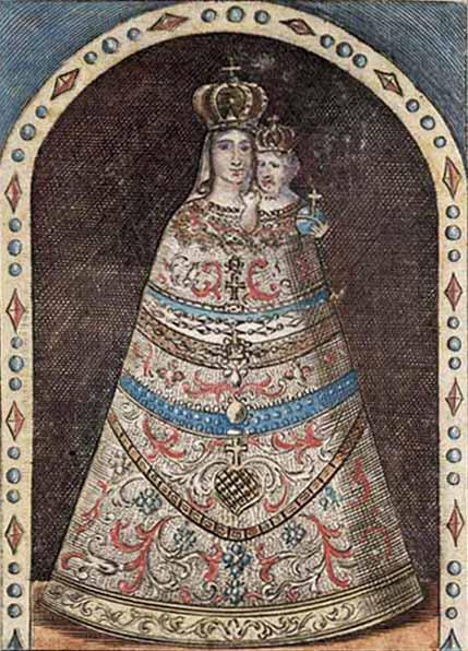 Virgen de Loreto / Crucifixion de Jesús  (R.M. SXVIII-O158) Z17b