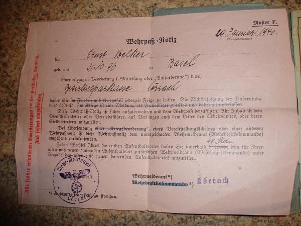 Traduction militarpass et wehrpass d'un suisse ayant combattu pour les allemands Dsc02063o