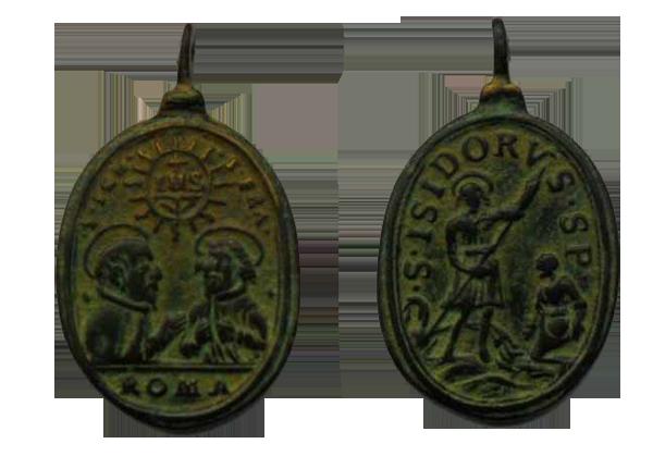 isidro - S. Ignacio de Loyola y S. Francisco Javier / S. Isidro  S.XVII Medallas016copy