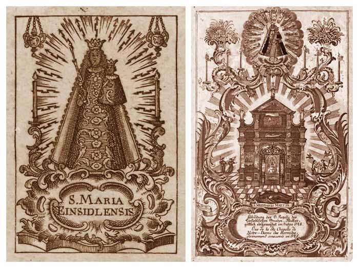 Nuestra Señora de Einsiedeln / Capilla de las Gracias - MR(322) (R.M. SXVIII-C164)(MAM) Orladenubesmr322b