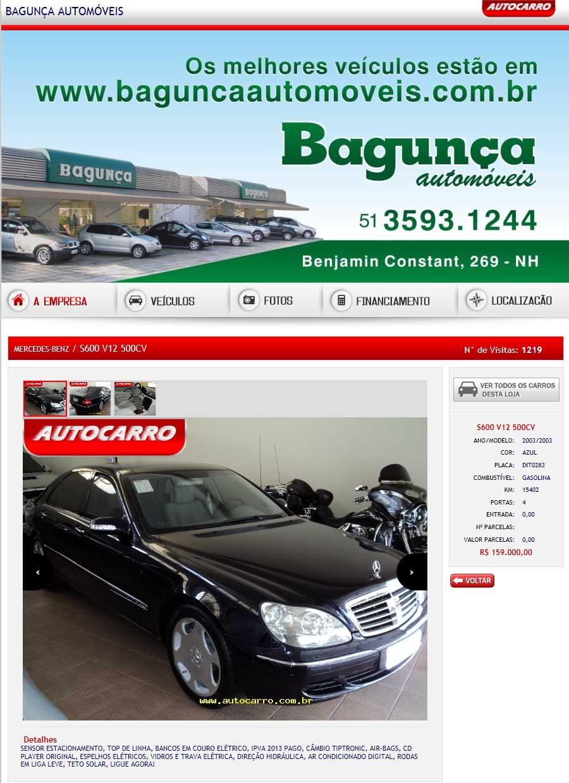 W220 S600 2002/2003 - R$ 159.000,00 Ryy6