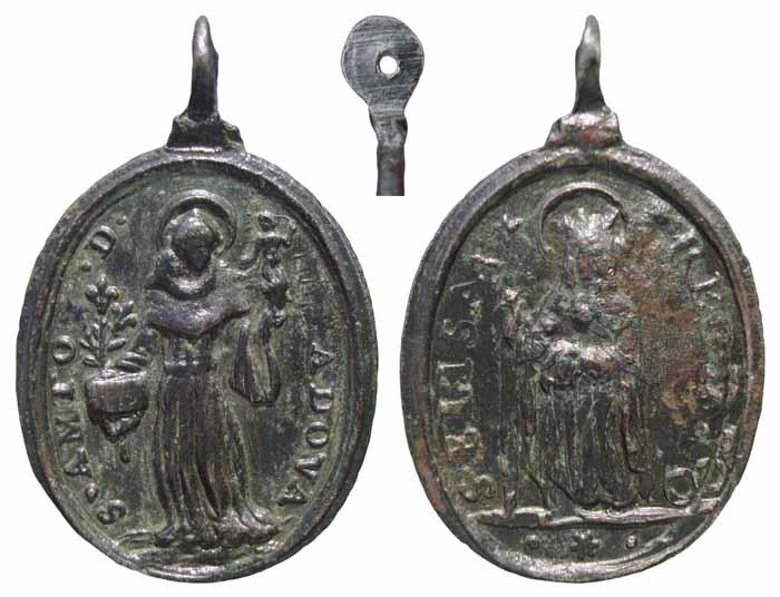 St Antoine-de-Padoue - Ste-Isabelle Reine du Portugal - XVIIème Mr242