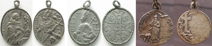 Medalla San Ghislain / Cruz de San Benito - MR(266) (R.M. SXVII-O275) Benitogislainbrbel30251