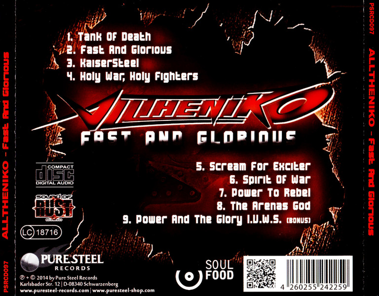 Alltheniko - Fast And Glorious (2014) JDgpe9