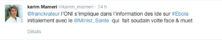 Karim Mameri pris en flagrand délit de mensonge sur Twitter ... FauwHS