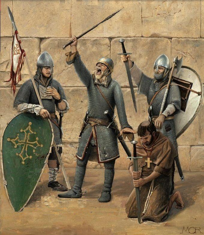 Armaduras y armas de los caballeros H1lwf1