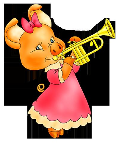 Cerdita y Trompeta DIVgWc