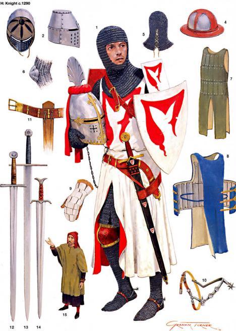 Armaduras y armas de los caballeros ZooNe8