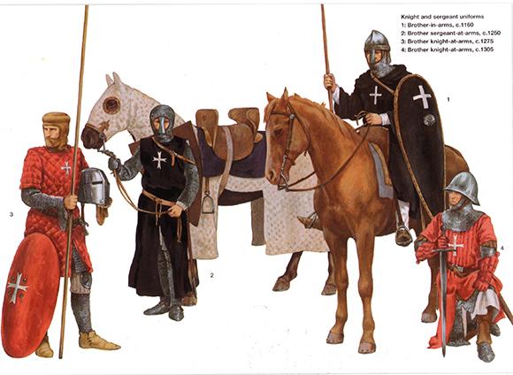 Evolución del aspecto en combate de los caballeros hospitalarios (1160-1480) HOaaXo