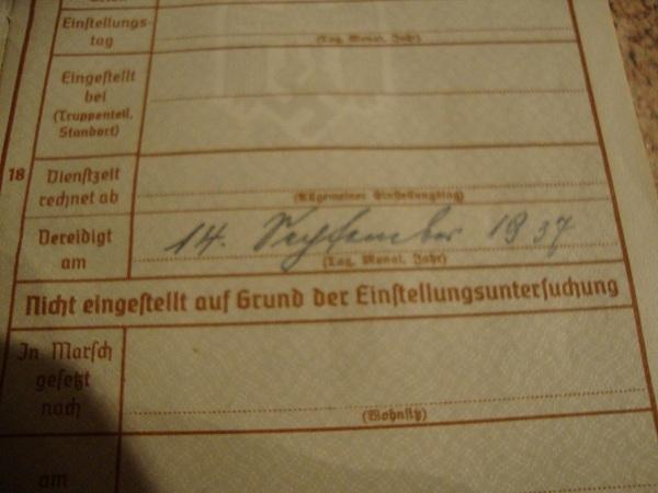 Traduction militarpass et wehrpass d'un suisse ayant combattu pour les allemands Dsc02068g