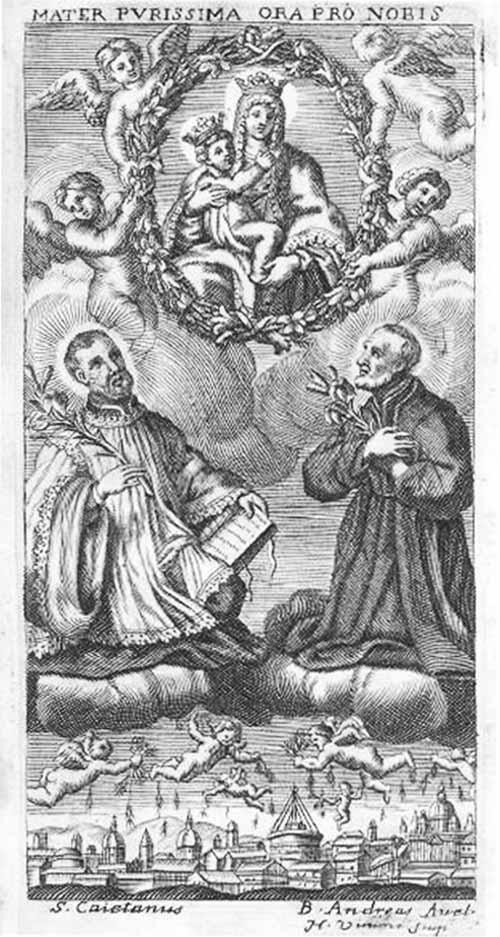 Beatos Cayetano y Andres Avelino / Jesucristo crucificado y oracion - MR(286) (R.M. SXVII-O207) Mr286b
