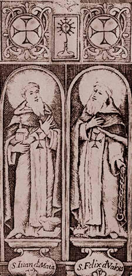 Médaille Jésus de Nazareth & les deux moines fondateurs de l'Ordre des Trinitaires - XVIIIème 81mk