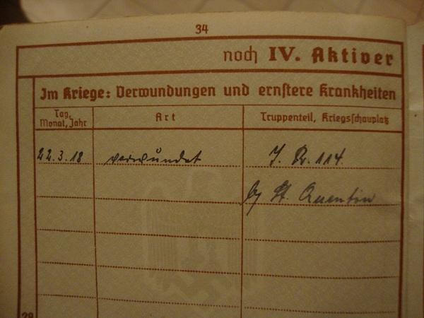 Traduction militarpass et wehrpass d'un suisse ayant combattu pour les allemands Dsc02075z