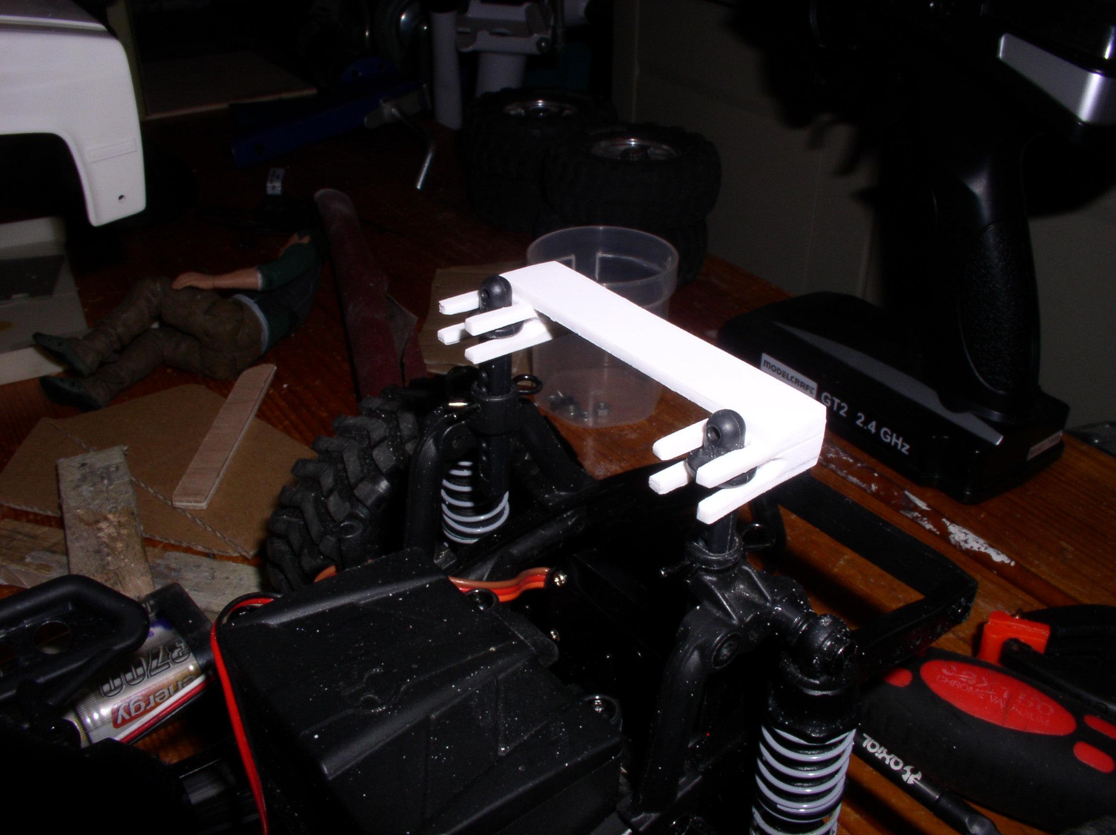 Mon Chevrolet K5, benne rallongée  (châssis SCX10)  Supporth