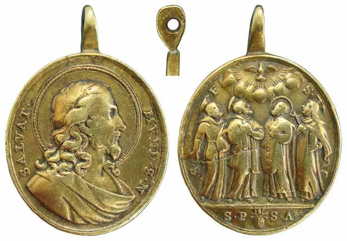 San Cristóbal - Cinco santos canonizados en 1712 B63t