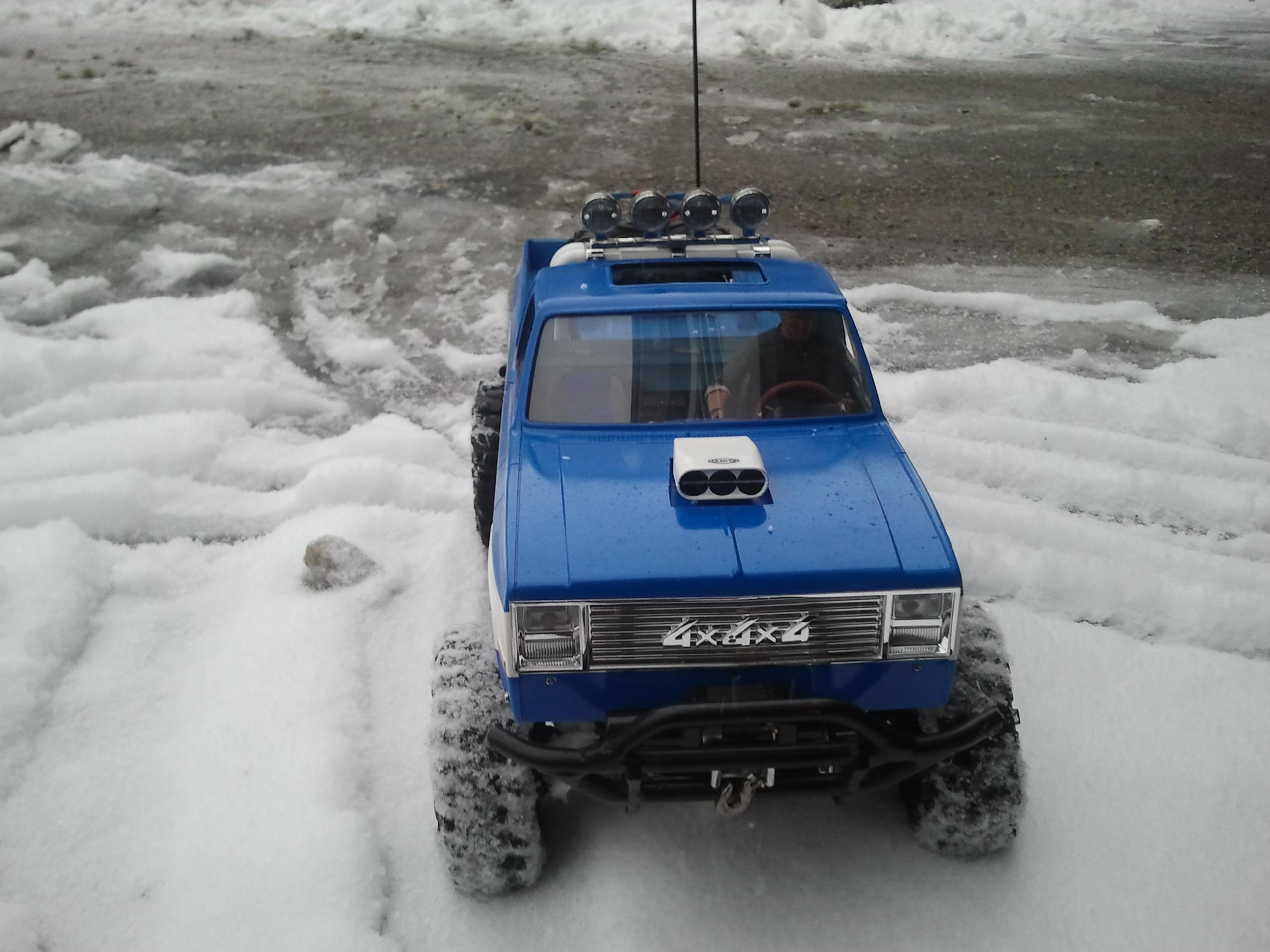 Mon Chevrolet K5, benne rallongée  (châssis SCX10)  20130312173611