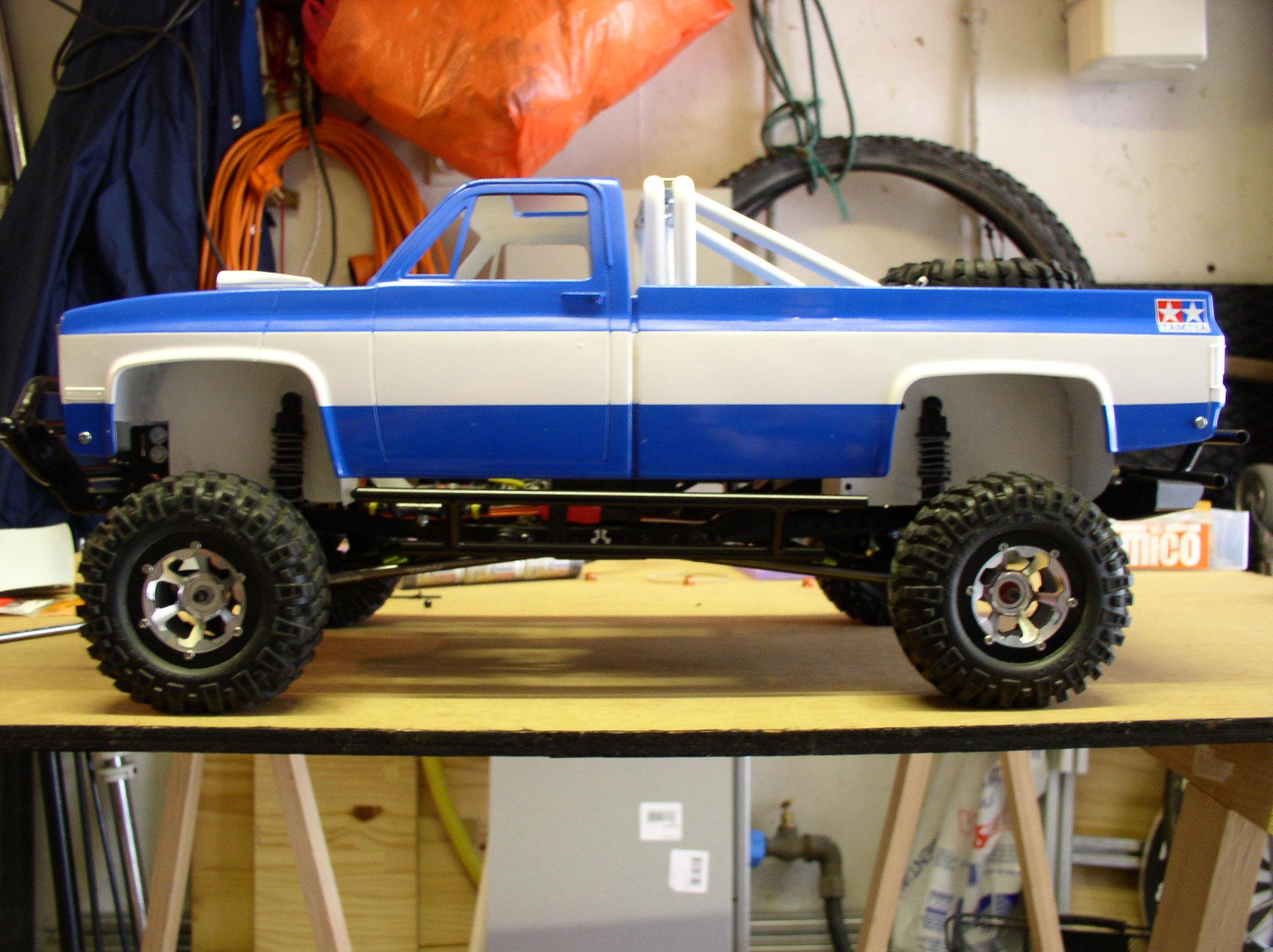 Mon Chevrolet K5, benne rallongée  (châssis SCX10)  P1010002dh