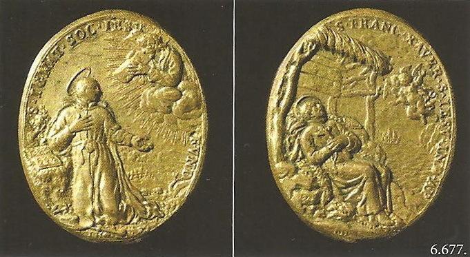 La Visión de San Ignacio de Loyola / Muerte de San Francisco Javier - (R.M. S.XVIII-O259) ,MR(434)  6677globe