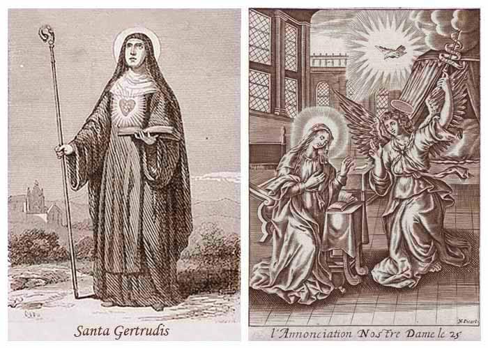 Santa Gertrudis / Anunciación - MR(311) (R.M. SXVIII-P46) Mr311b