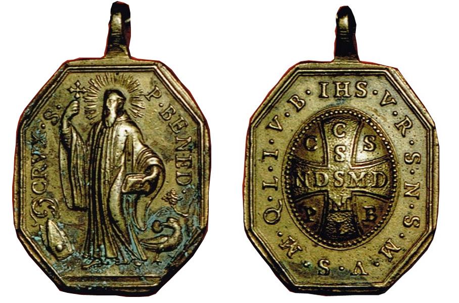 Medalla San Benito / Cruz de San Benito S XVIII Sbsxviiianvyrev1
