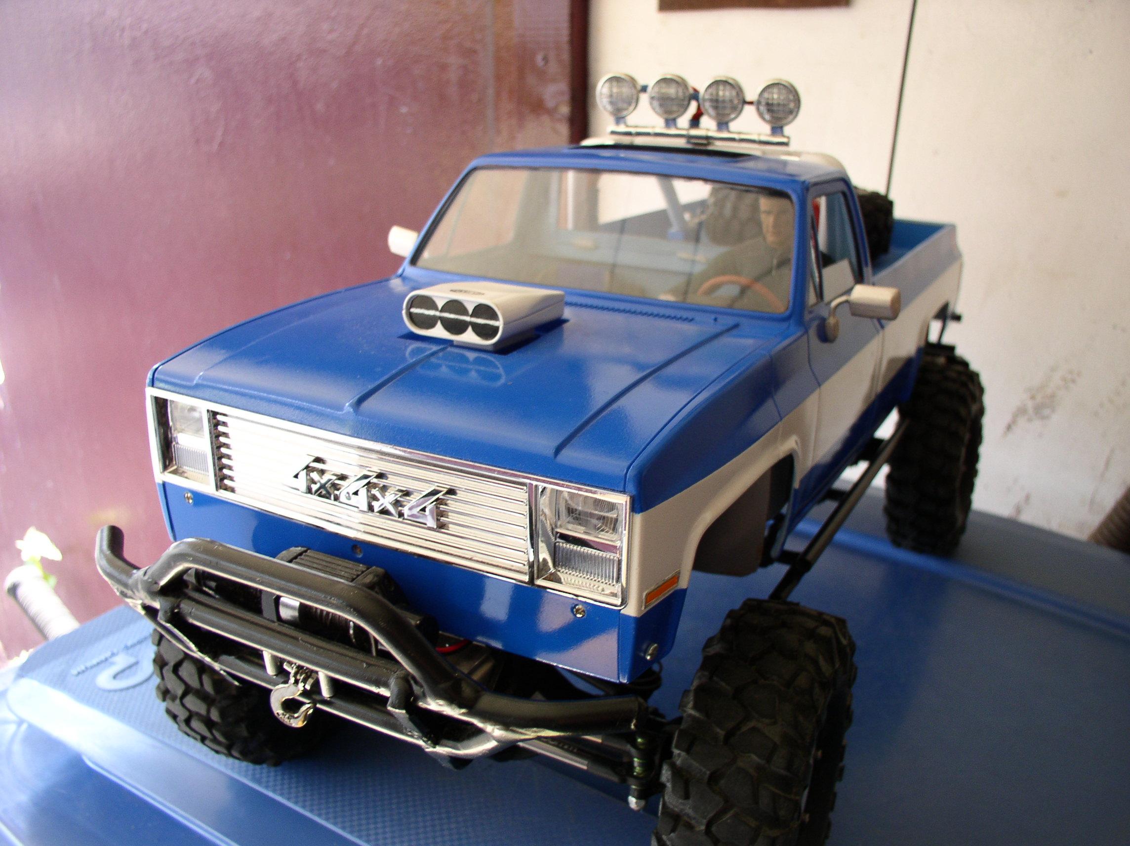 Mon Chevrolet K5, benne rallongée  (châssis SCX10)  Retrovis