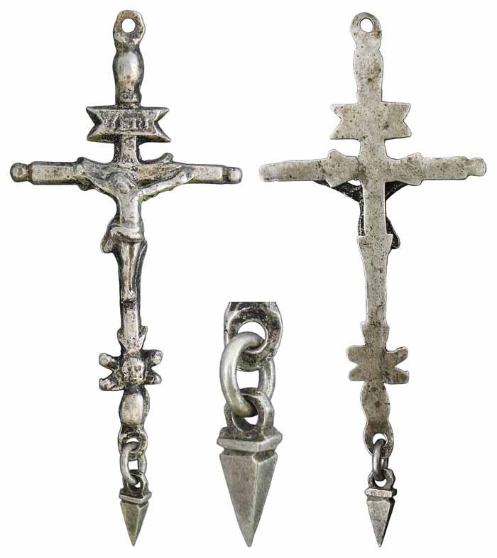 Crucifix en argent - XVIII-XIXème Yfjc