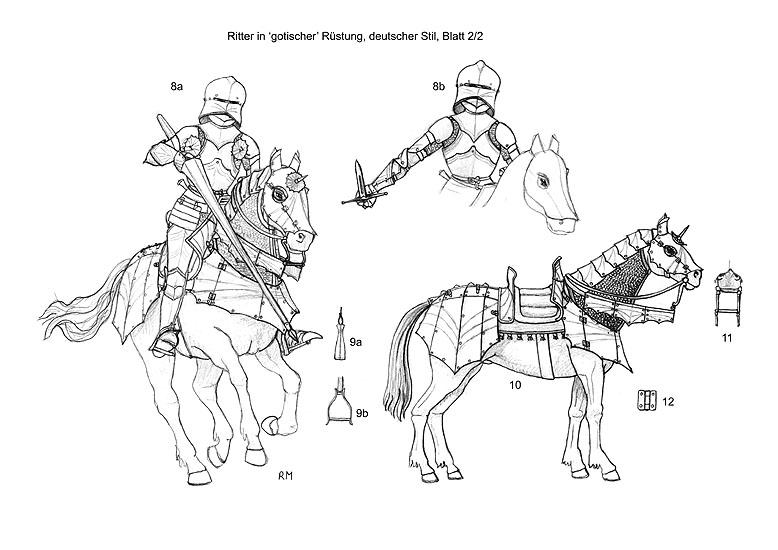 El caballo de guerra medieval. Evolución de su equipamiento y armadura RtdDj7