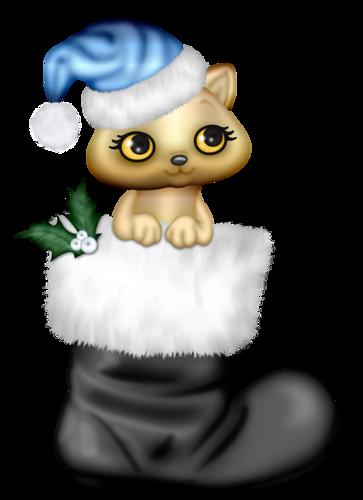 Gatito y Bota de Navidad 2eFdR4