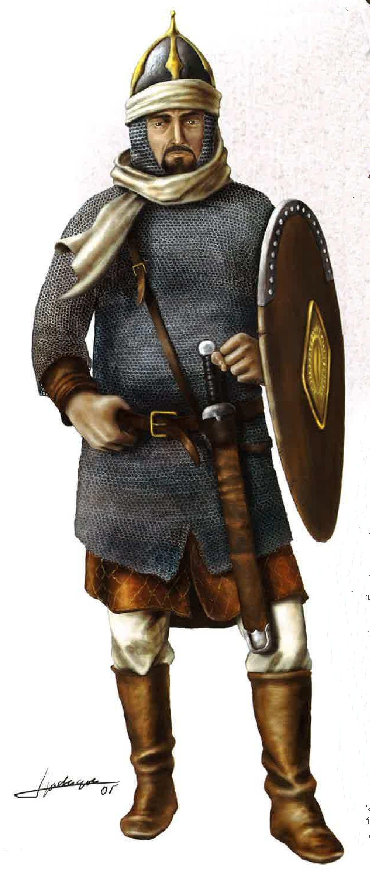 Un guerrero andalusí de la época taifa O9VzLB