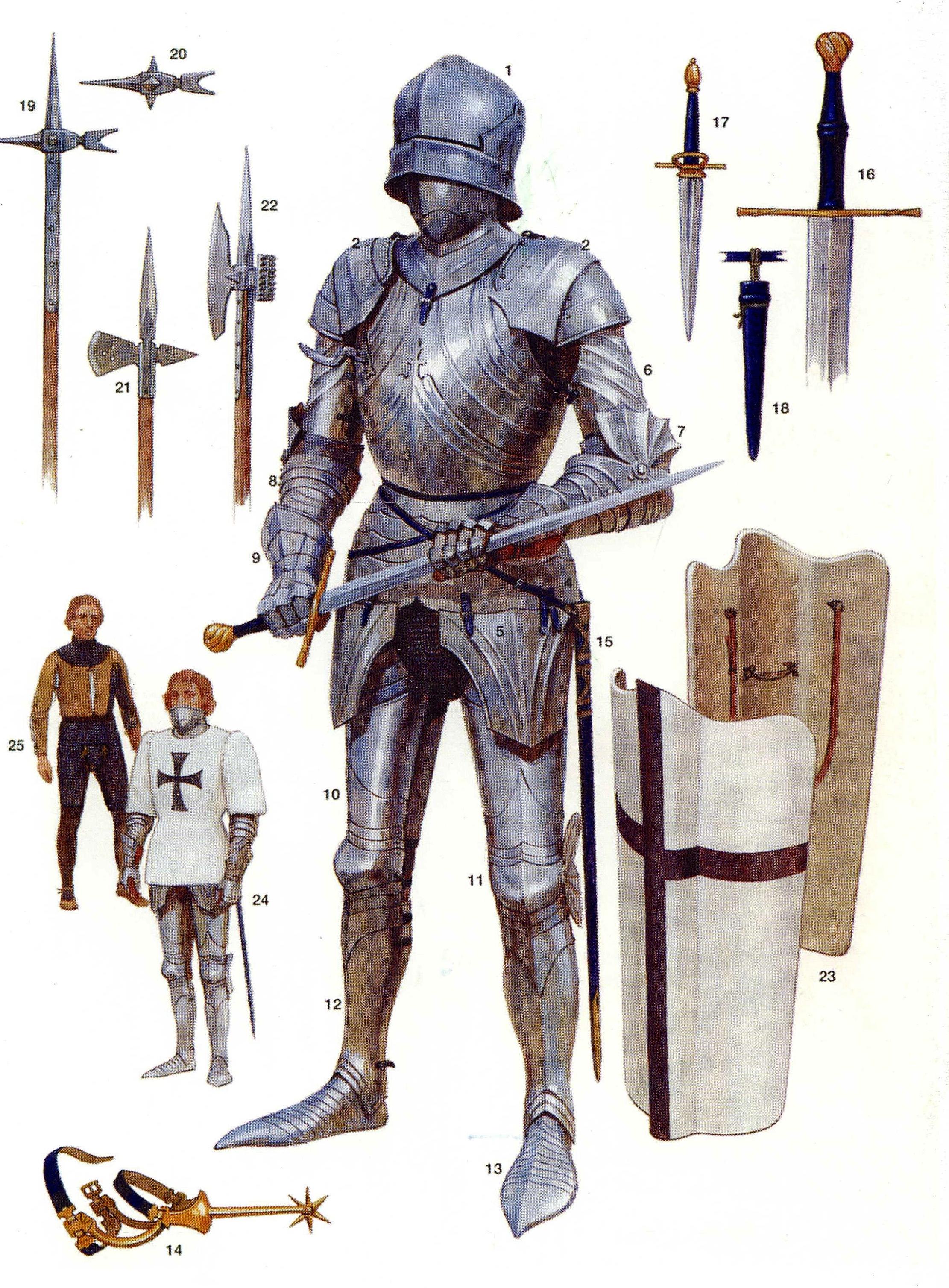 Armaduras y armas de los caballeros QKm6bz