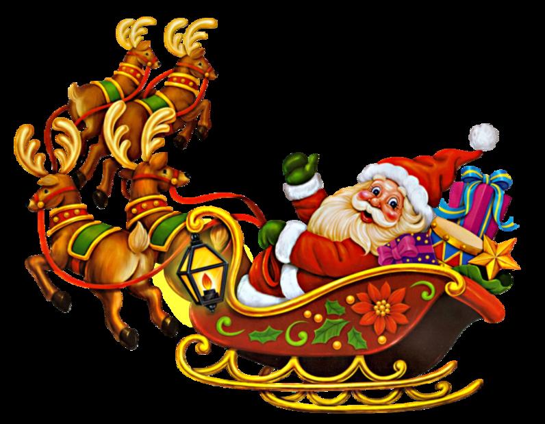 Papá Noel y Trineo AQKYGq