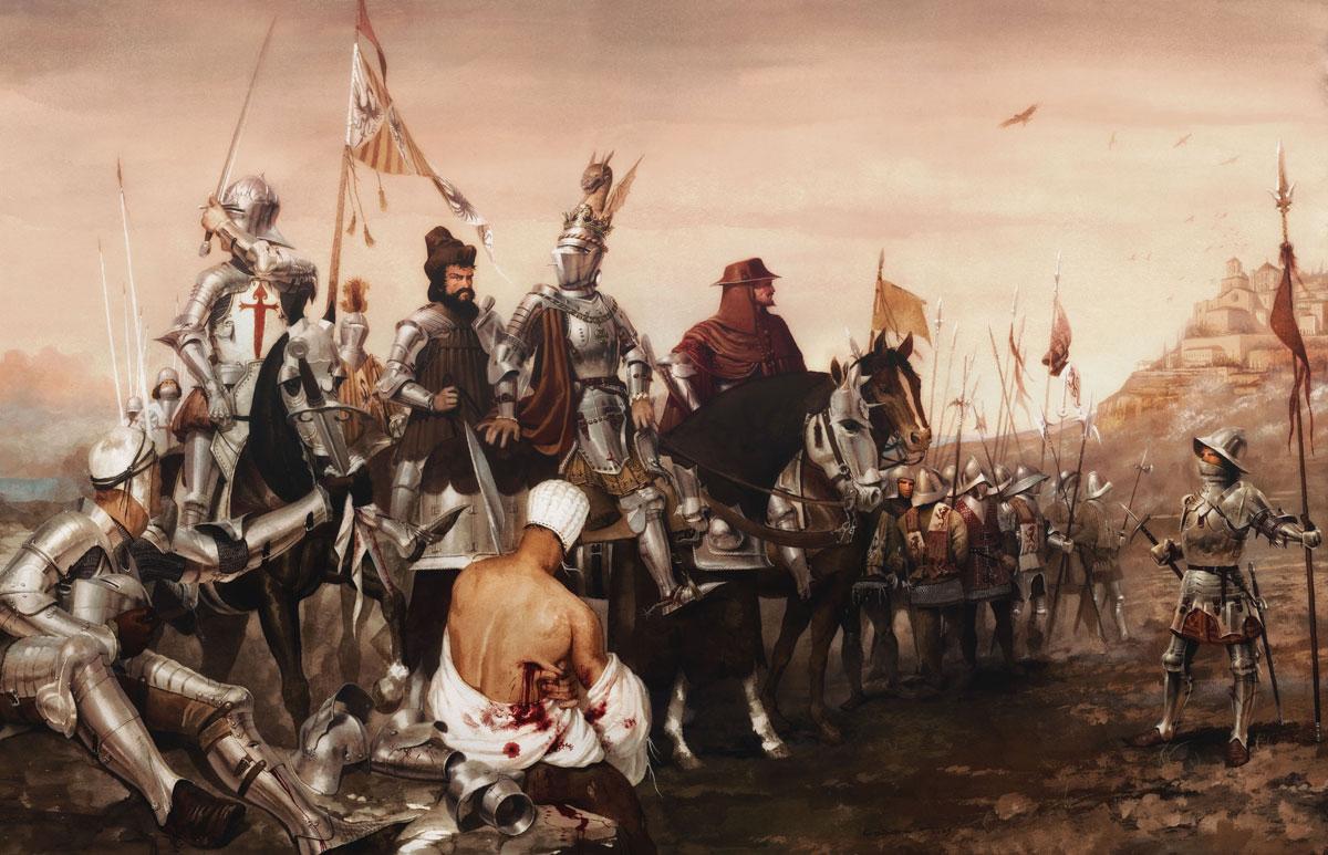Armaduras y armas de los caballeros WdKLDO