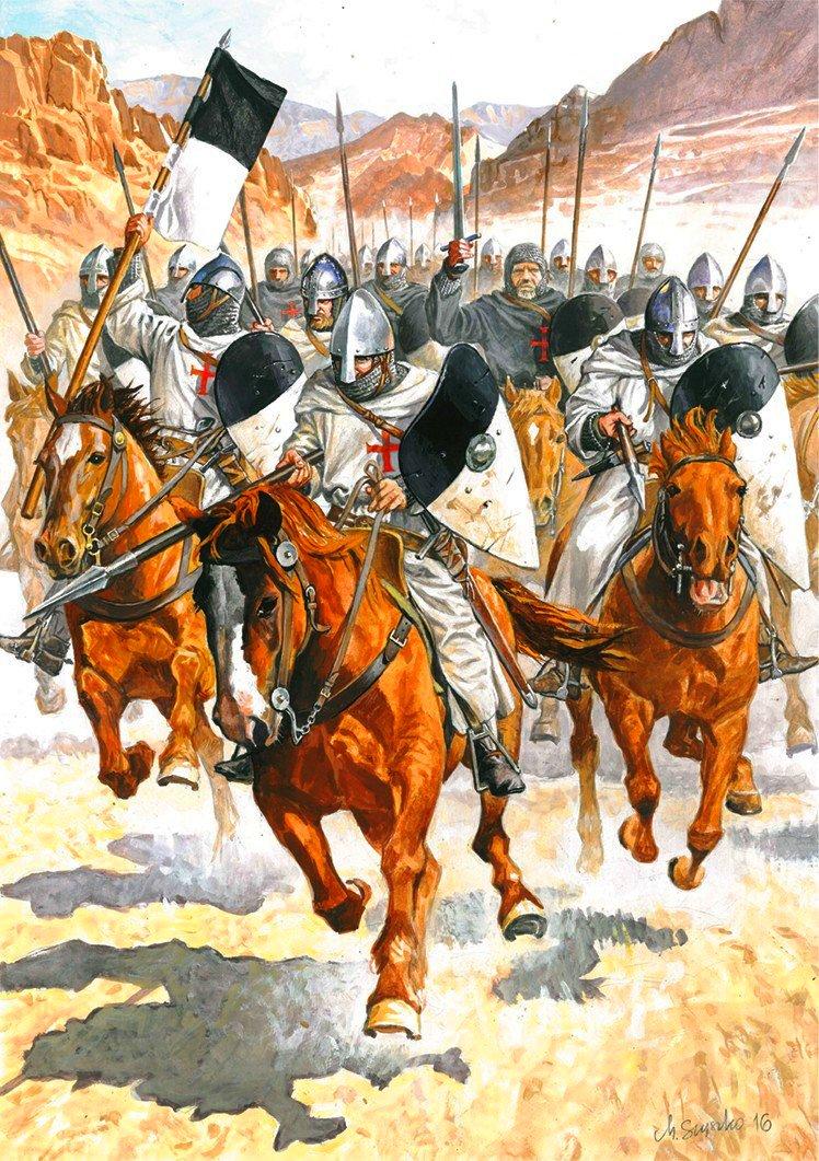 La Orden Militar del Temple (1118-1310) Armaduras, armas y equipamiento SukwTJ