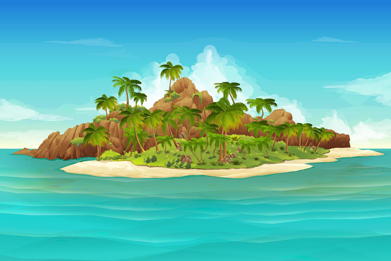 Paisaje Infantil-Isla YJW9Vd