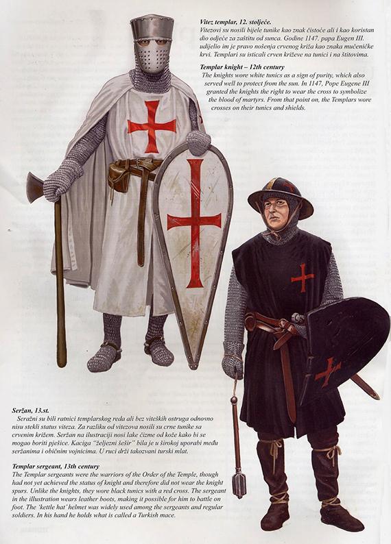 La Orden Militar del Temple (1118-1310) Armaduras, armas y equipamiento MAhXic