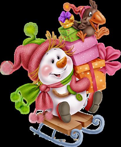 Muñeco de nieve y regalos 9hPJQJ