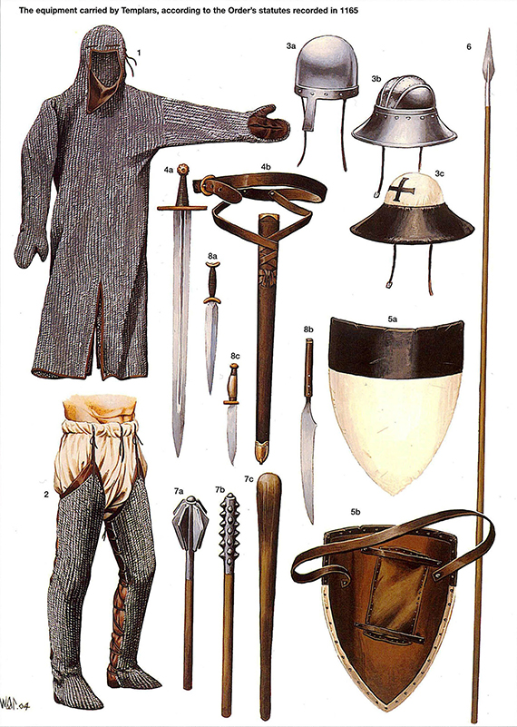 La Orden Militar del Temple (1118-1310) Armaduras, armas y equipamiento 6oQtPR