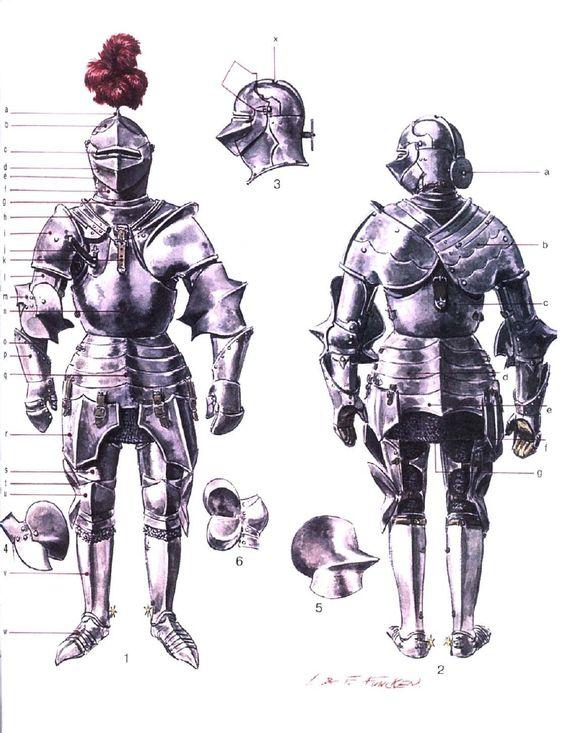 Armaduras y armas de los caballeros NpajkQ